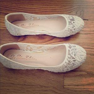 Size 7 flats from David's bridal!